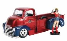 DC Bombshells 52 Chevy Coe w/ Wonder Woman 1/24 Vehicle