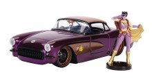 DC Bombshells 57 Chevy Corvette w/ Batgirl 1/24 Vehicle