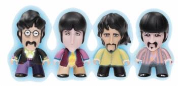 Beatles Titans Yellow Submarine 3in Gid Viny Figure 4 Pack