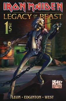 Iron Maiden Legacy of the Beast VOL 2 Night City #1 Cvr B Casas