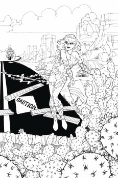 Harley Quinn & Poison Ivy #4 (of 6) Card Stock Poison Ivy Var