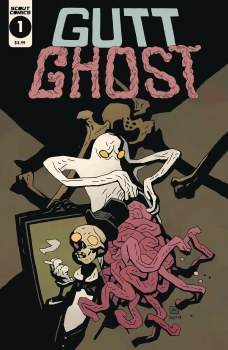 Gutt Ghost Trouble W/ Sawbuck Skeleton Society Mignola Cvr