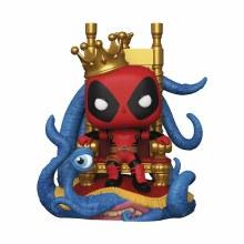 Pop Deluxe Marvel King Deadpool On Throne Px Vinyl Figure