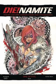Die!namite #1 Momoko Red Sonja Zombie 20 Copy Var