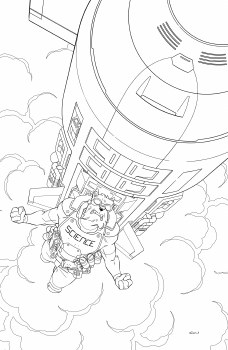 Skybound X #3 Cvr E Walker B&W 10 Copy Var