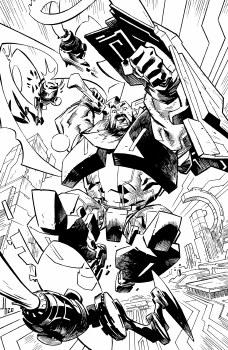 Skybound X #5 Cvr E 10 Copy Incv B&W Howard