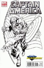 Captain America #1 Diamond Select Black & White Var