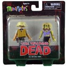 Walking Dead Dale & Female Zombie Minimates