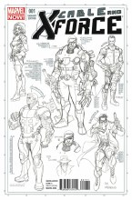 Cable and X-Force #1 Larroca Design Sketch Var Now