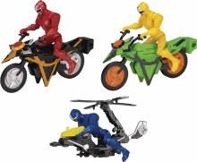 Power Rangers Ninja Steel Mega Morph Copter w/ Blue Ranger Figure