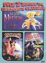 The Little Mermaid/Pocahontas/Black Beauty DVD