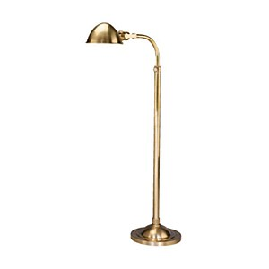 Alvin Floor Lamp, Brass