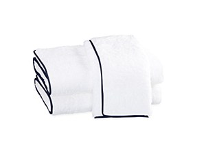 Cairo Guest Towel, Navy Pipe