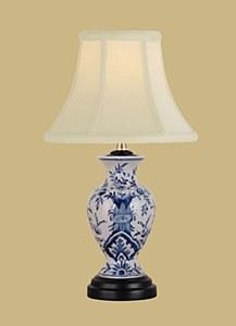 B/W  Vase Lamp & Shade