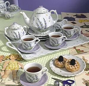 Lavender Tea Set- 18 pc