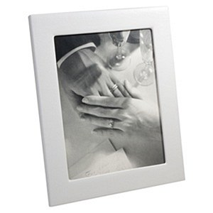 5 x 7 Leather Frame, WHITE