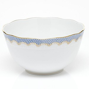Fish Scale Round Bowl, L/BLUE