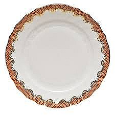 Fish Scale Dinner Plate, Rust