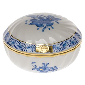 Chinese Bouquet Ring Box Blue