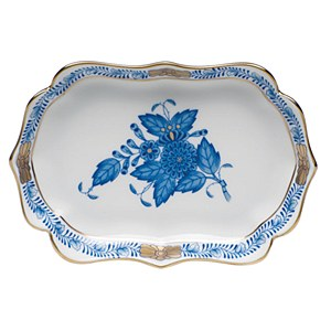 Mini Scalloped Tray, BLUE