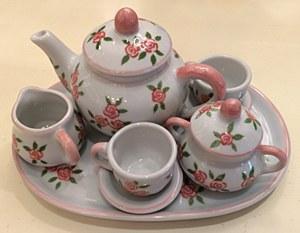 Pink Rose Tea Set