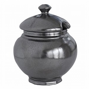 Lidded Sugar Bowl Pewter