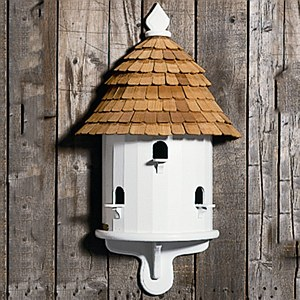 Half Bird House, White