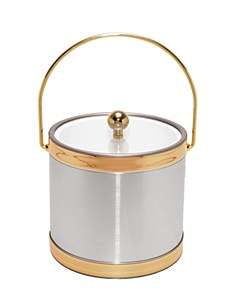 Brushed Silver 3 QT Ice Bucket