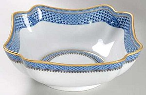 Indigo Wave Square Bowl, SMALL