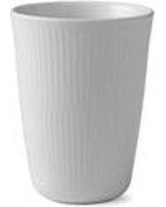 White Flutted Thermal Mug Latt