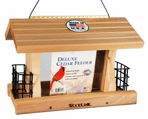 Deluxe Cedar Hopper and Suet Feeder