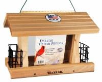 Deluxe Cedar Hopper and Suet Feeder