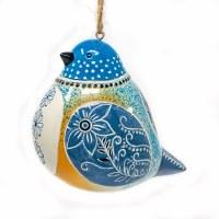 Ceramic Bluebird Bird Song Ornament
