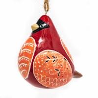 Ceramic Cardinal Bird Song Ornament
