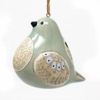 Ceramic Dove Bird Song Ornament