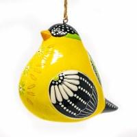 Ceramic Goldfinch Bird Song Ornament
