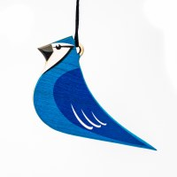 Wooden Blue Jay Ornament