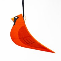 Wooden Cardinal Ornament
