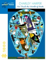 Charley Harper We Think the World of Birds Puzzle