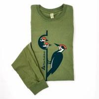 Mass Audubon Woodpecker Long Sleeved