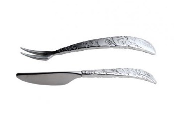 Stainless Steel & Pewter Pickle Fork & Pate Knife