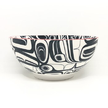 Large Porcelain Bowl - Raven