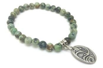 Agate bracelet eagle