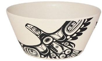 Med Bamboo Bowl - Soaring Eagle