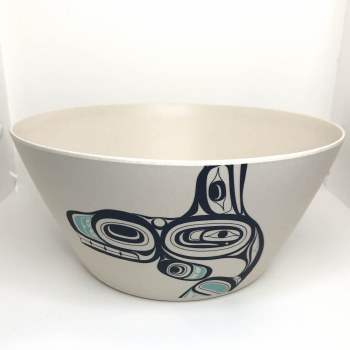Large Bamboo Bowl - Whale