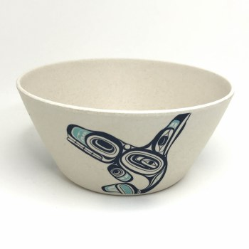 Med Bamboo Bowl - Whale