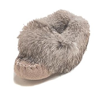 Baby moccasins with rabbit fur - Size 2