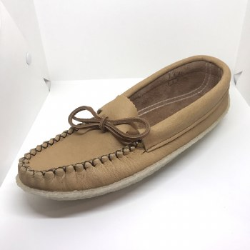 Men's Moosehide moccasins with crepe rubber sole - Size 9