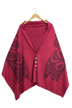 Spirit Shawl - Magenta Eagle