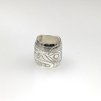 """Sterling Silver 1/2"""" Bead - Wolf"""